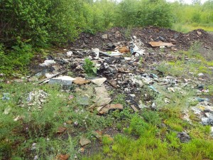 Illegal Dump Pile in Centralia near the Odd Fellows Cemetery that will be one of the sites cleaned up on October 25th