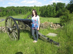 Dana Sword, EPCAMR Watershed Outreach Specialist, at one of the Gettysburg Battlefields.