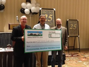 Robert Hughes-EPCAMR Executive Director and Andy McAllister-WPCAMR Regional Coordinator accept the $5000 check from ARIPPA