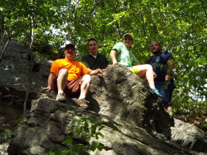 Dave Svab (second from Robert)-GIS Specialist, and the EPCAMR Crew on the Sugar Notch Trail