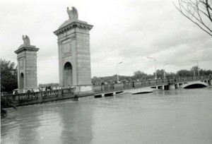 Market Street Bridge in Wilkes-Barre during the Agnes Flood in June of 1972.