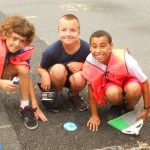 Storm Drain Marking with the YMCA Summer Camp in Pottsville